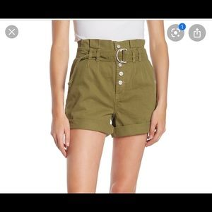 Free People | High Waist Belted Shorts